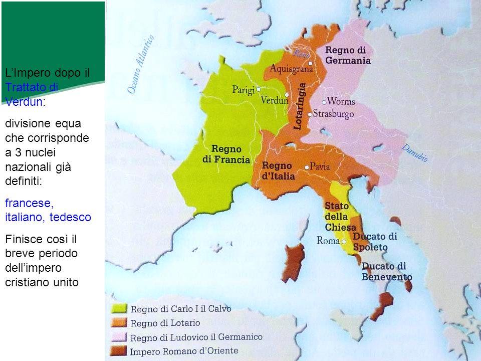 L'Impero dopo il Trattato di Verdun: