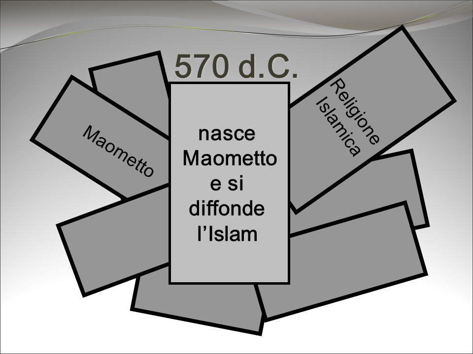 570 d.C. nasce Maometto e si diffonde l'Islam Religione Islamica