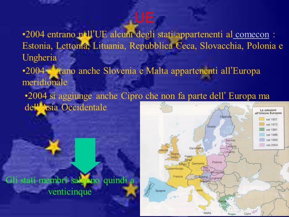 Gli stati membri salgono quindi a venticinque