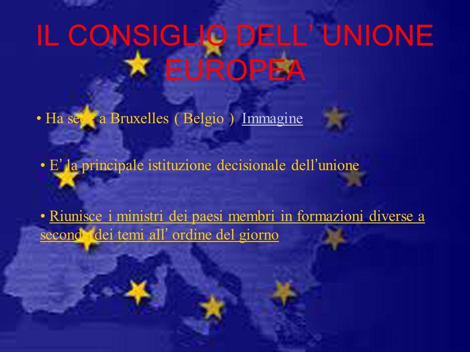 IL CONSIGLIO DELL' UNIONE EUROPEA