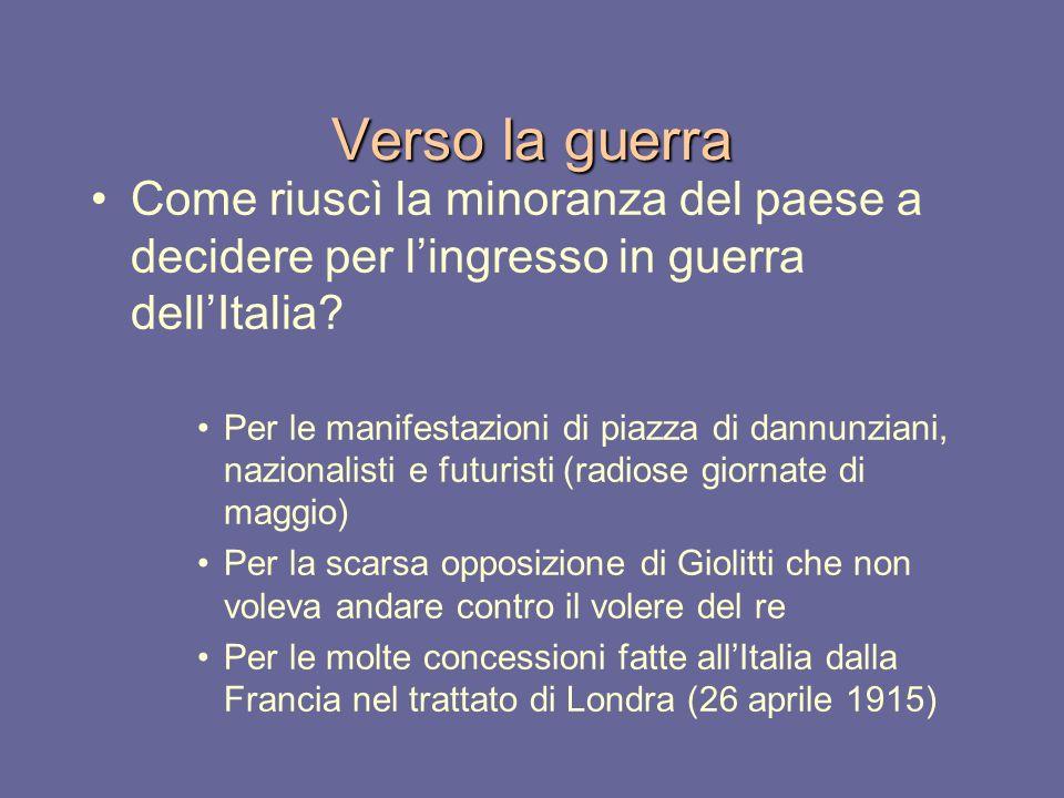 Verso la guerra Come riuscì la minoranza del paese a decidere per l'ingresso in guerra dell'Italia