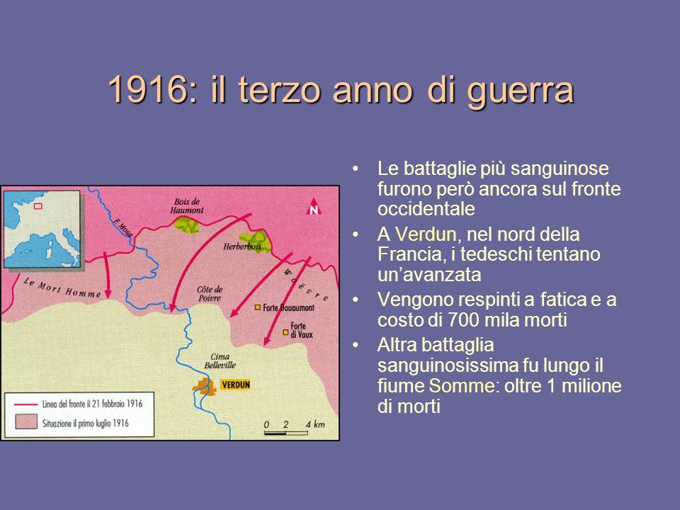 1916: il terzo anno di guerra