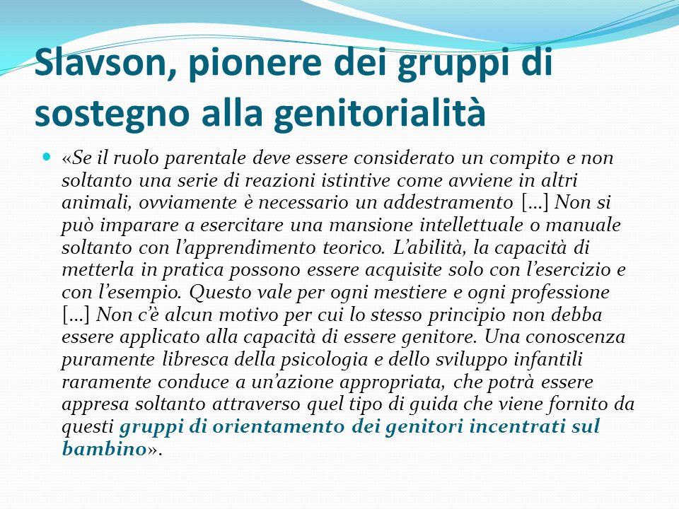 Slavson, pionere dei gruppi di sostegno alla genitorialità