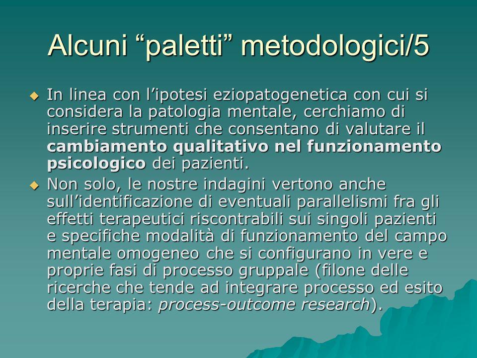 Alcuni paletti metodologici/5