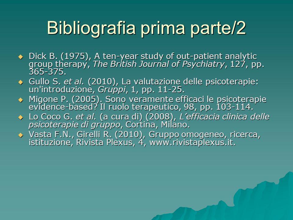 Bibliografia prima parte/2