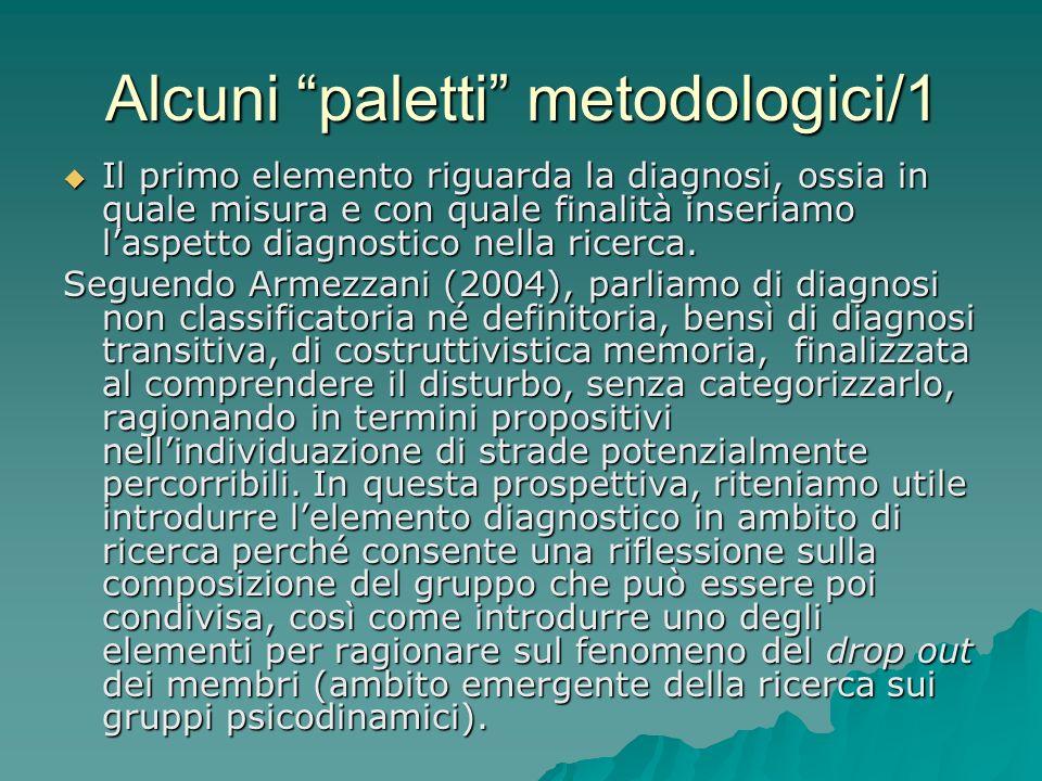 Alcuni paletti metodologici/1