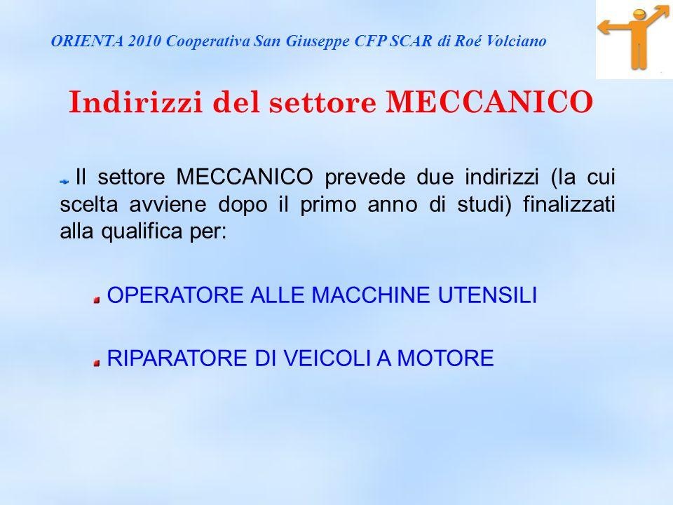 Indirizzi del settore MECCANICO