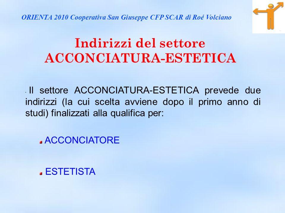 Indirizzi del settore ACCONCIATURA-ESTETICA