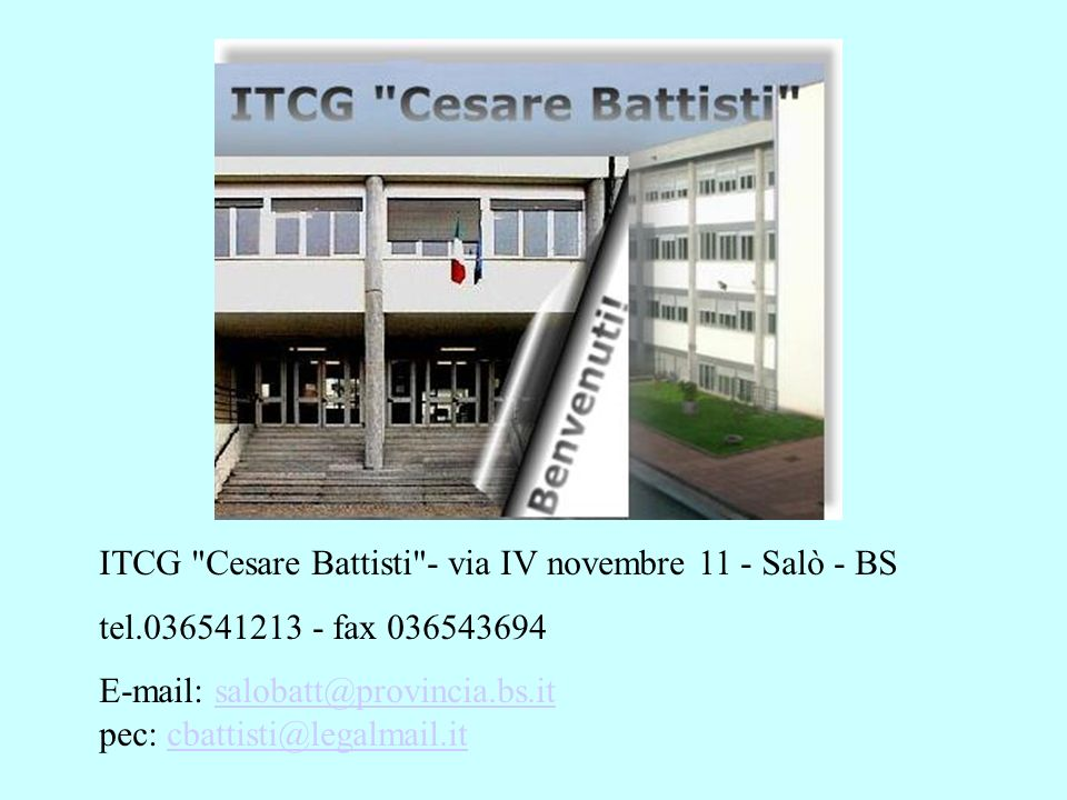 ITCG Cesare Battisti - via IV novembre 11 - Salò - BS