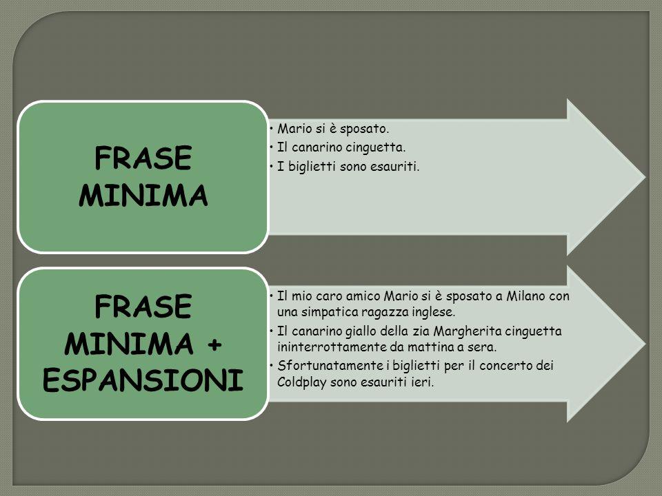 FRASE MINIMA + ESPANSIONI