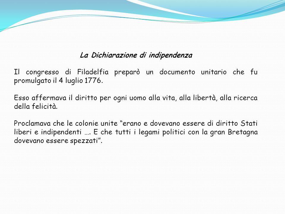 La Dichiarazione di indipendenza
