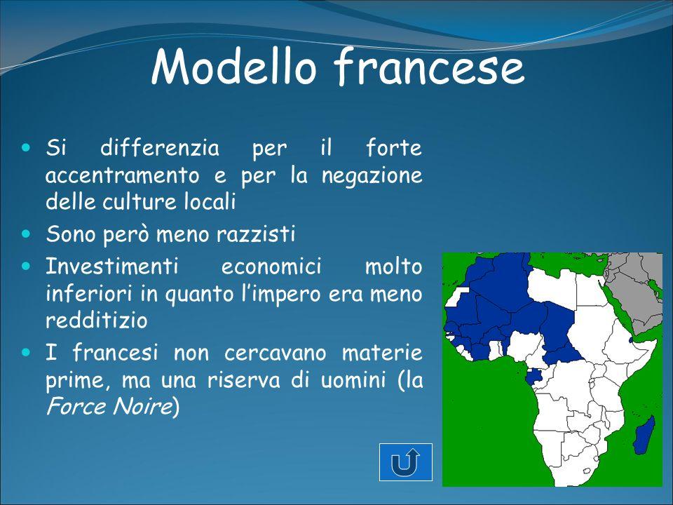 Modello francese Si differenzia per il forte accentramento e per la negazione delle culture locali.