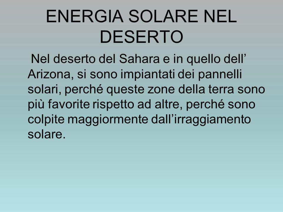 ENERGIA SOLARE NEL DESERTO