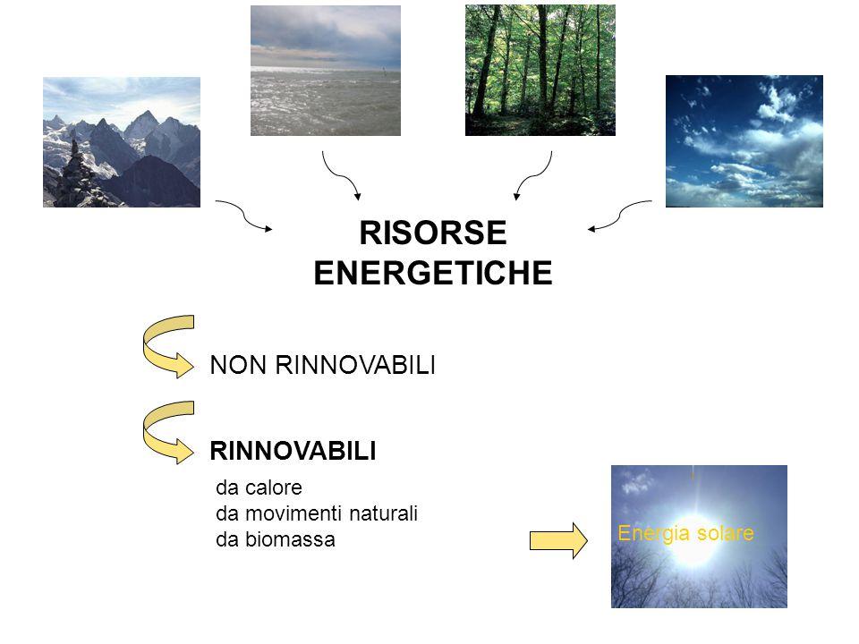 RISORSE ENERGETICHE NON RINNOVABILI RINNOVABILI da calore