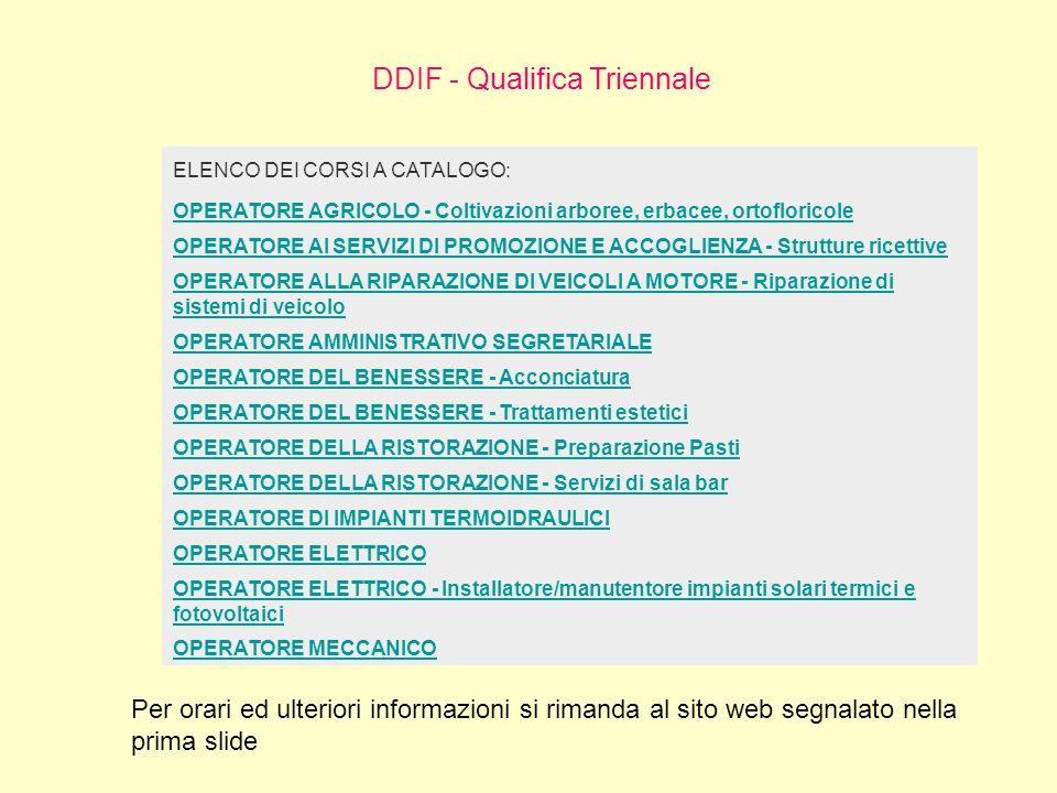 DDIF - Qualifica Triennale
