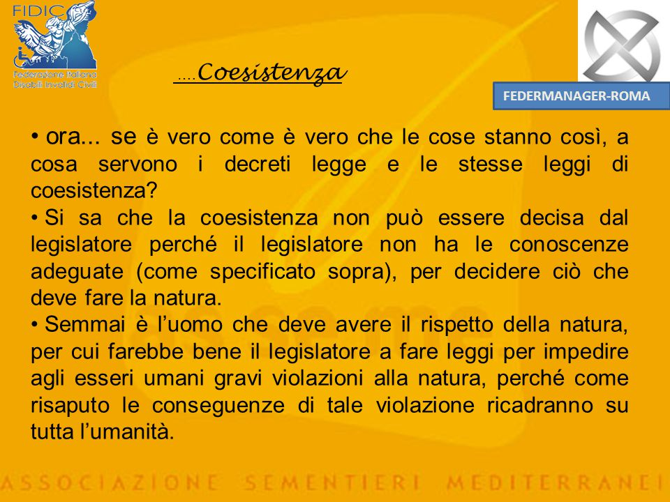 ….Coesistenza FEDERMANAGER-ROMA.