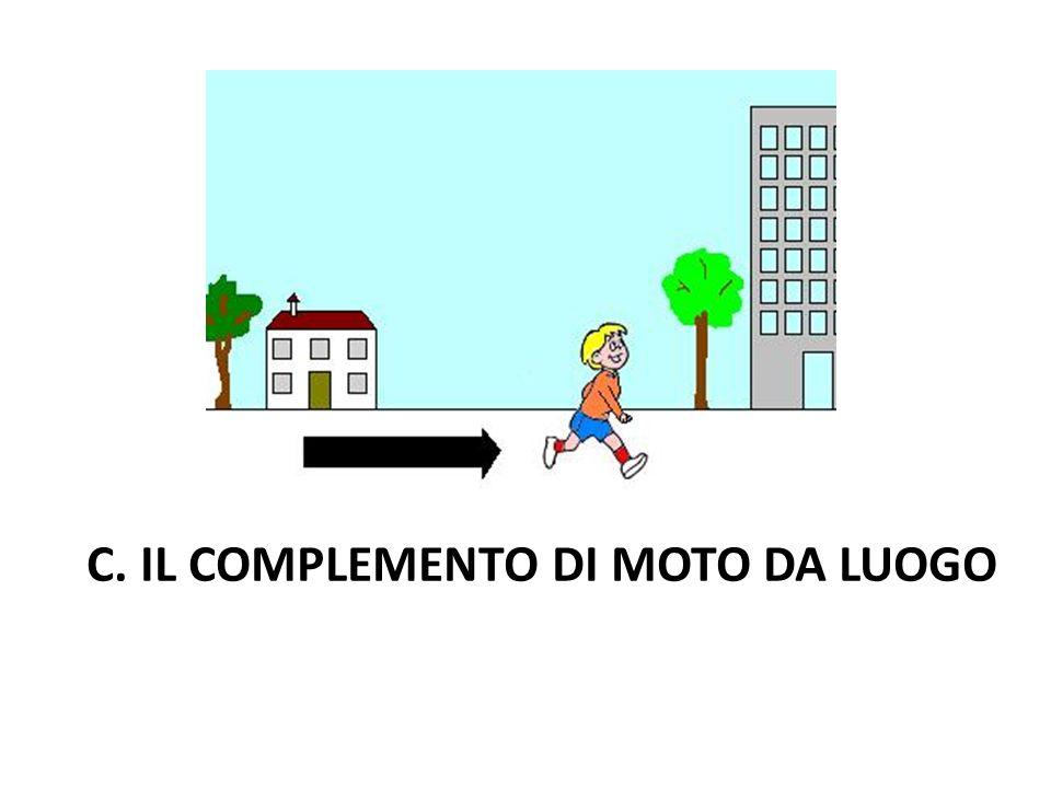 C. IL COMPLEMENTO DI MOTO DA LUOGO