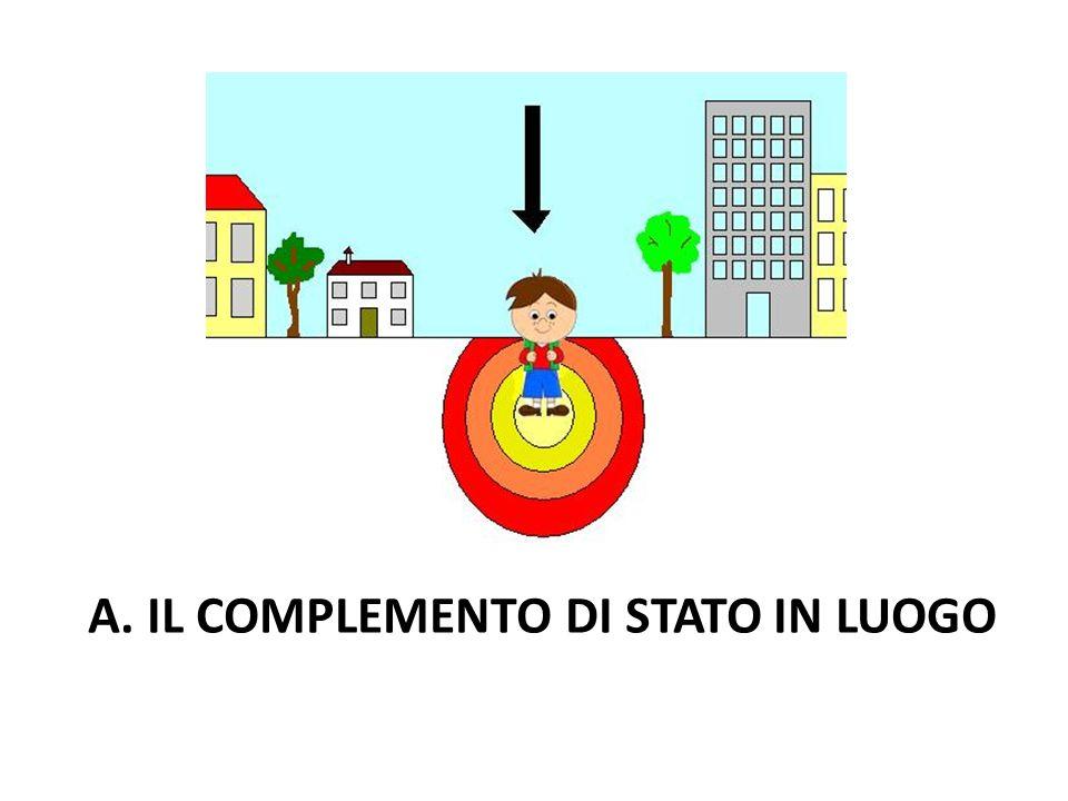 A. IL COMPLEMENTO DI STATO IN LUOGO