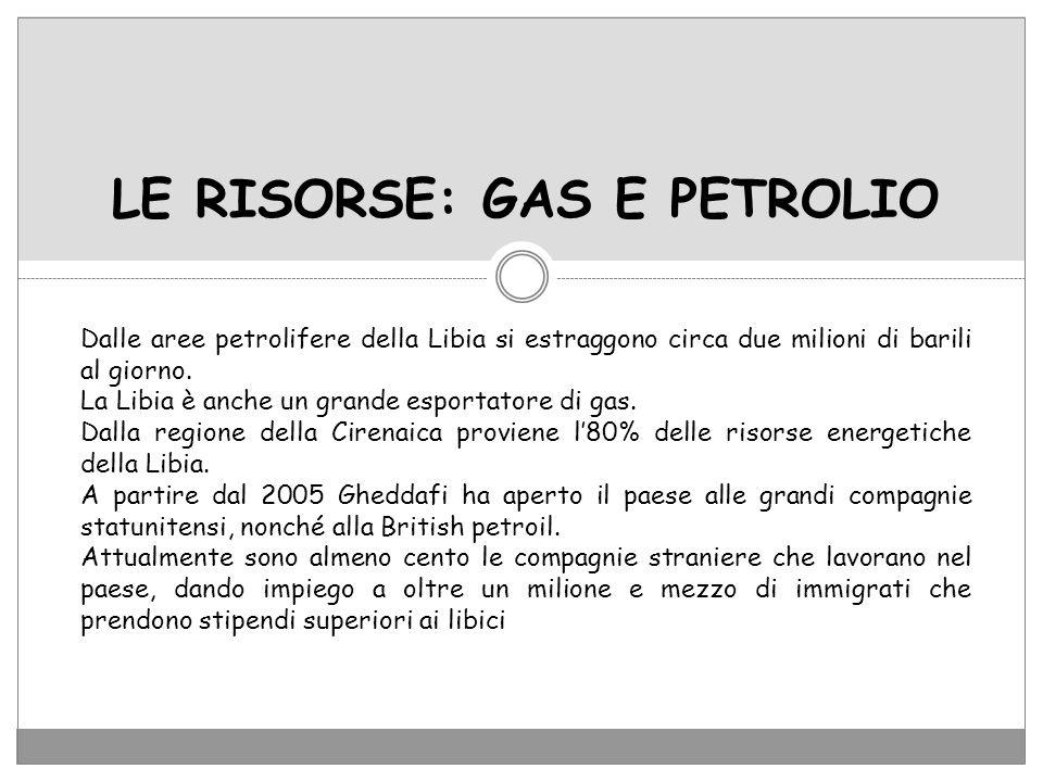 LE RISORSE: GAS E PETROLIO