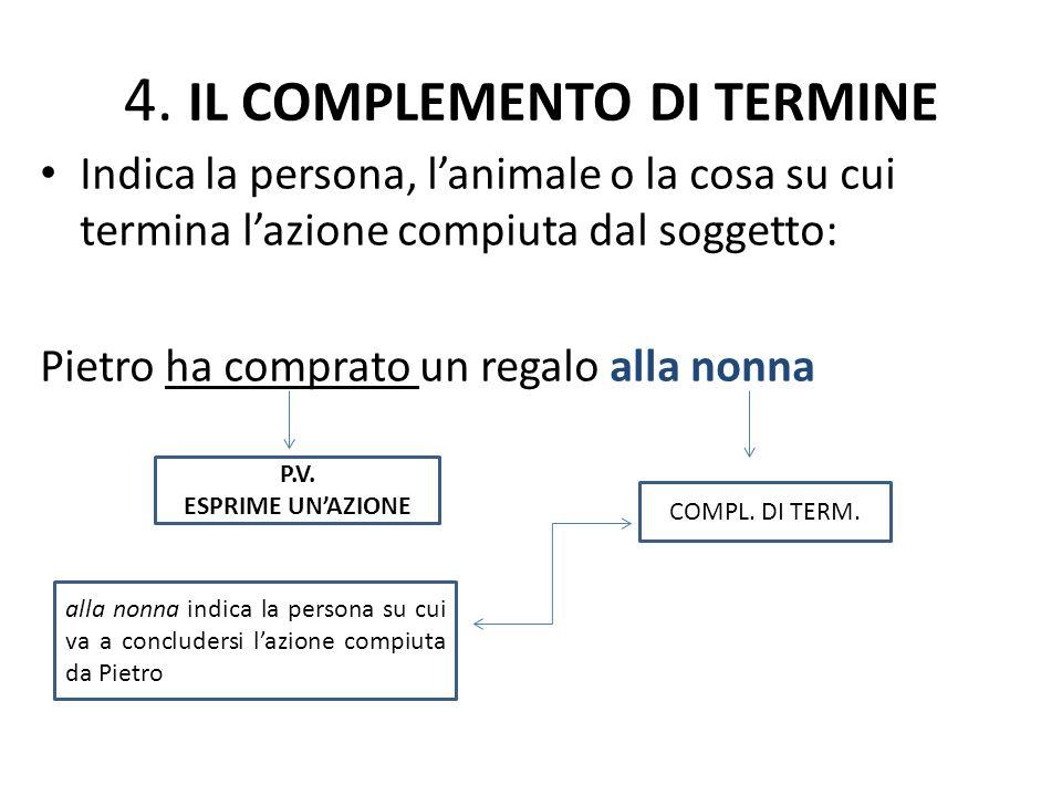 4. IL COMPLEMENTO DI TERMINE