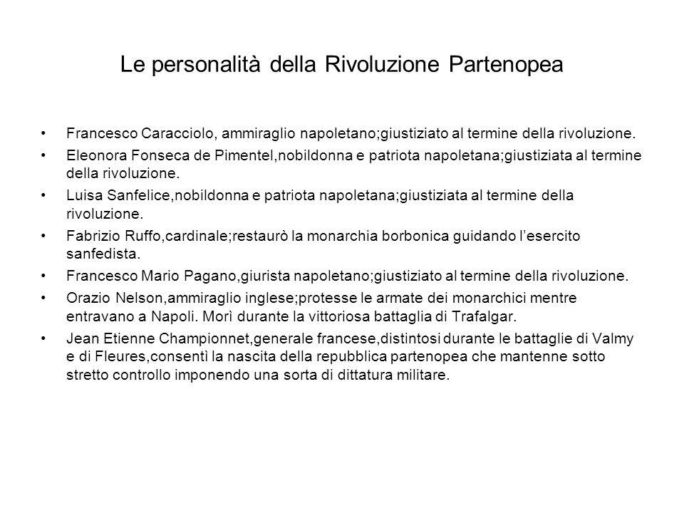 Le personalità della Rivoluzione Partenopea