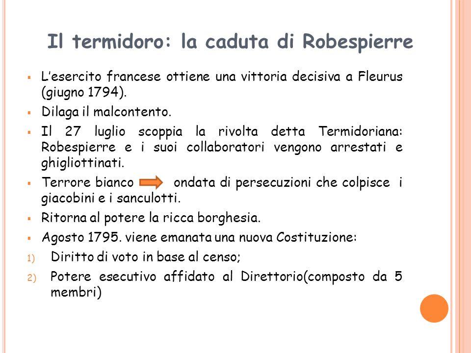 Il termidoro: la caduta di Robespierre
