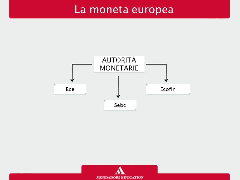 La moneta europea AUTORITÀ MONETARIE Bce Ecofin Sebc