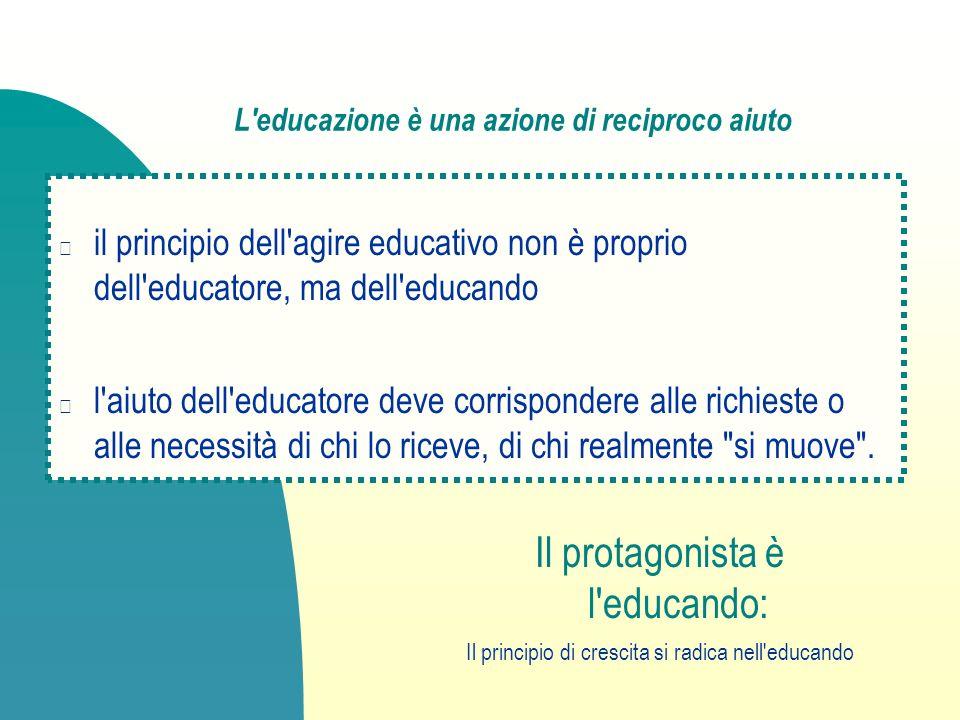 L educazione è una azione di reciproco aiuto