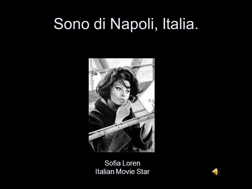 Sono di Napoli, Italia. Sofia Loren Italian Movie Star