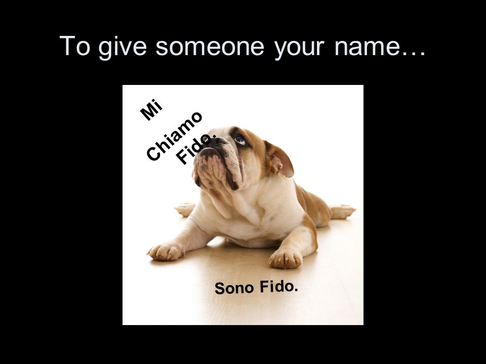 To give someone your name…