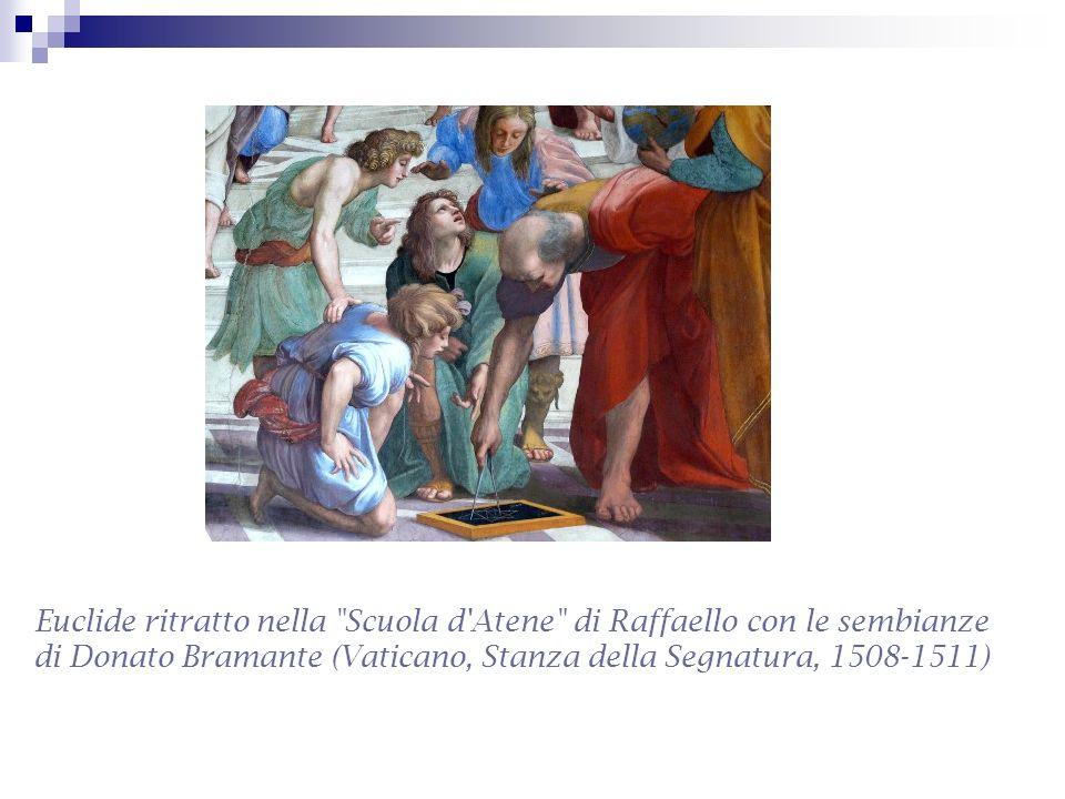 Euclide ritratto nella Scuola d Atene di Raffaello con le sembianze di Donato Bramante (Vaticano, Stanza della Segnatura, 1508-1511)