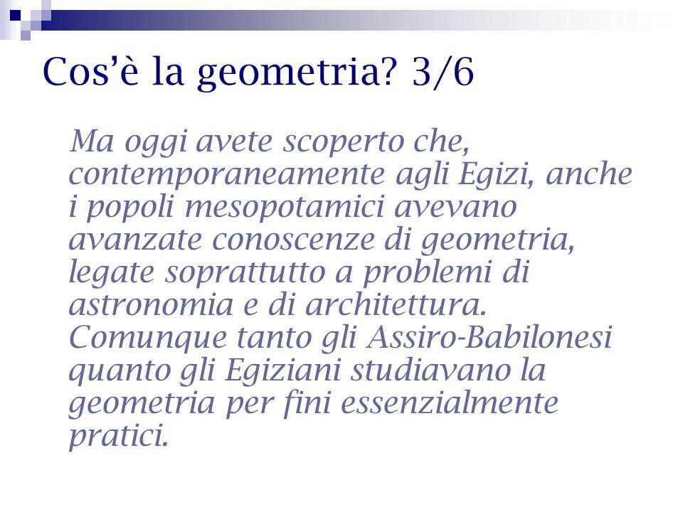 Cos'è la geometria 3/6