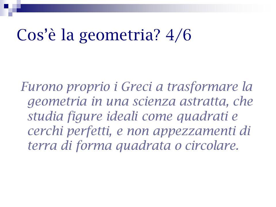Cos'è la geometria 4/6
