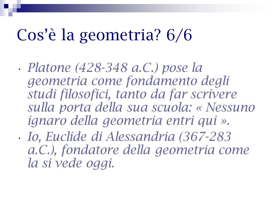 Cos'è la geometria 6/6