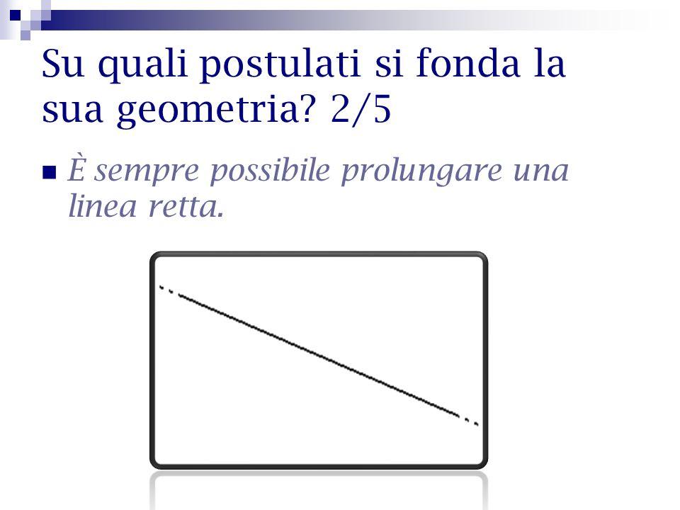 Su quali postulati si fonda la sua geometria 2/5