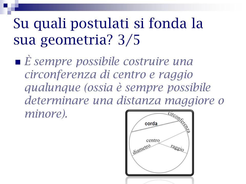 Su quali postulati si fonda la sua geometria 3/5