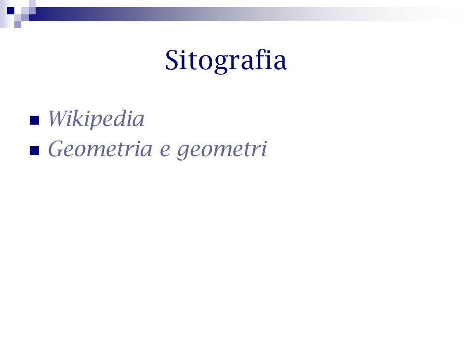 Sitografia Wikipedia Geometria e geometri