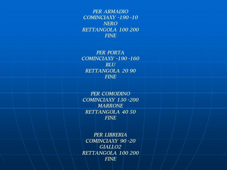 PER ARMADIO COMINCIAXY -190 -10. NERO. RETTANGOLA 100 200. FINE. PER PORTA. COMINCIAXY -190 -160.