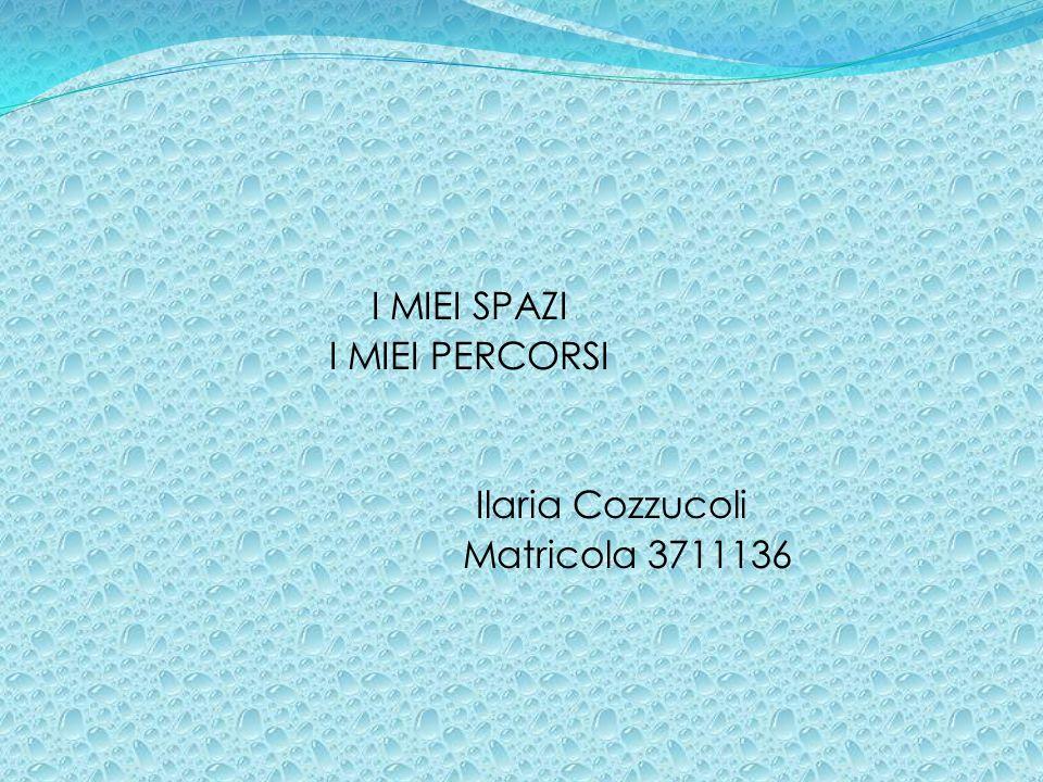 I MIEI SPAZI I MIEI PERCORSI Ilaria Cozzucoli Matricola 3711136