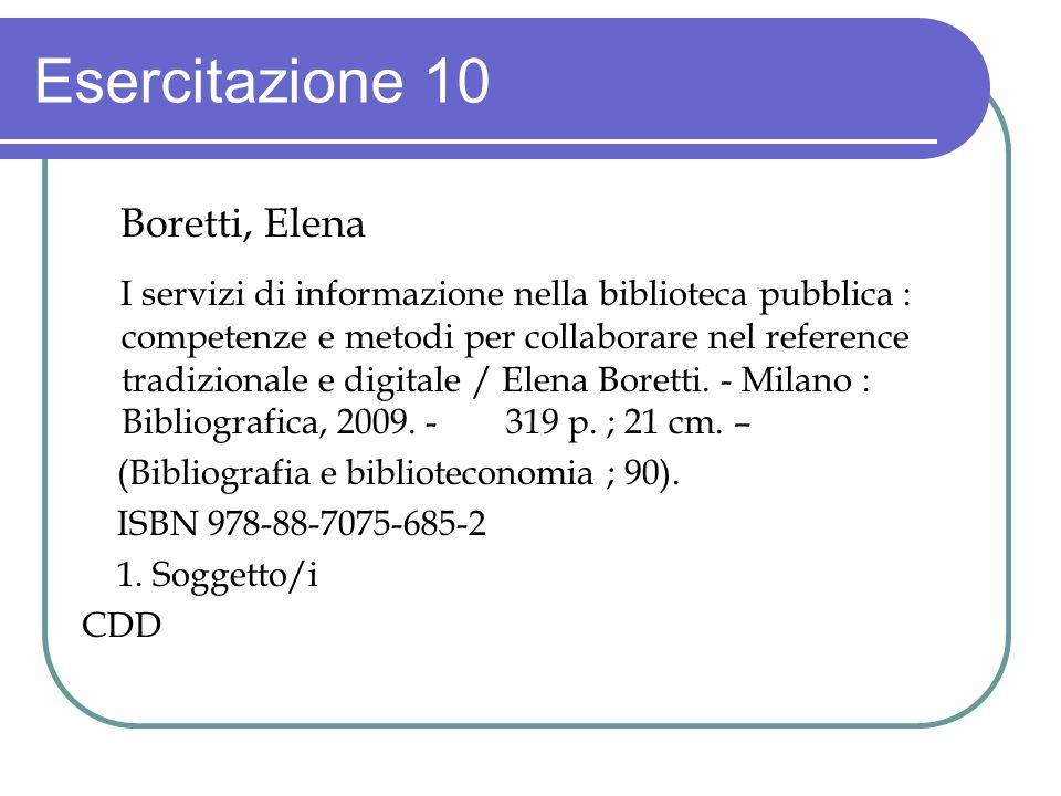 Esercitazione 10 Boretti, Elena