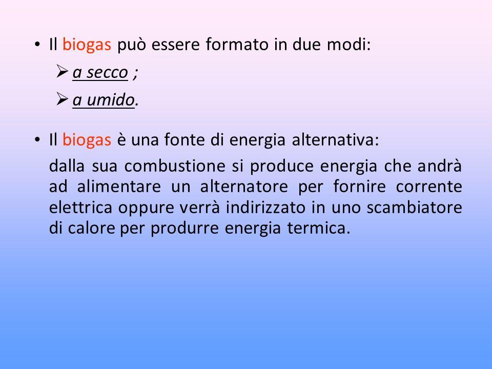 Il biogas può essere formato in due modi: