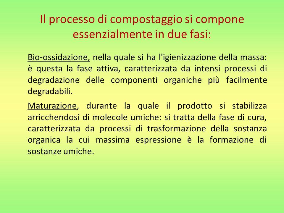 Il processo di compostaggio si compone essenzialmente in due fasi: