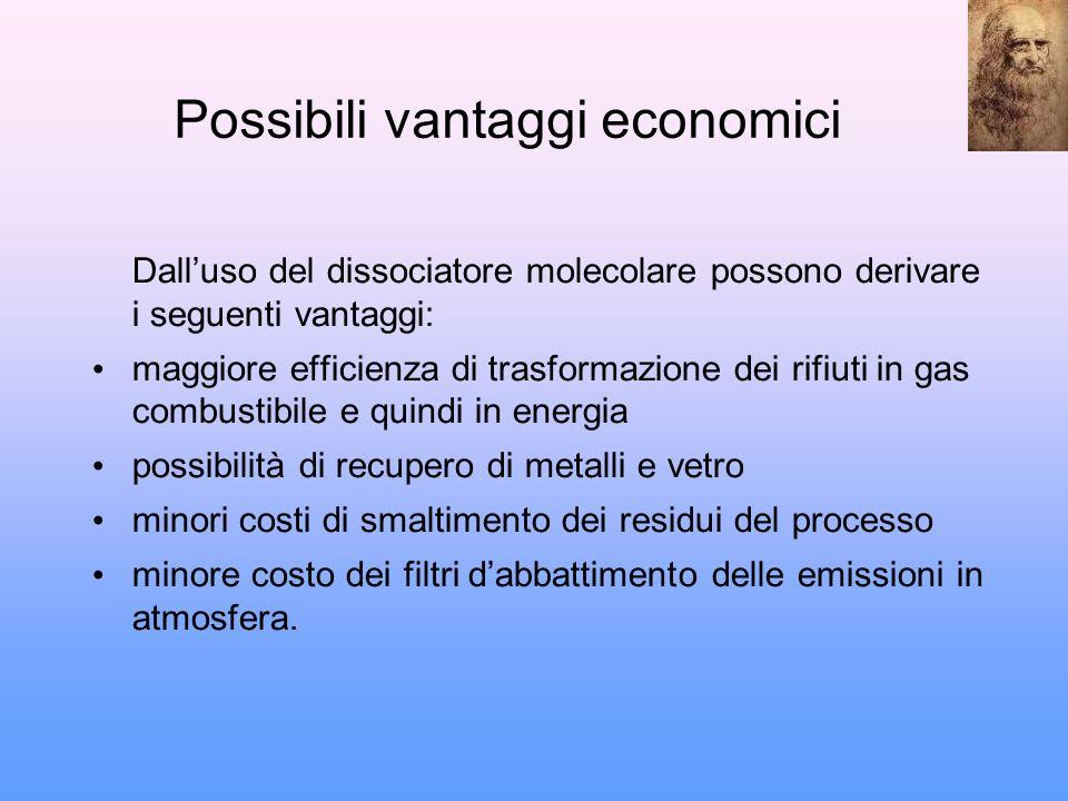 Possibili vantaggi economici