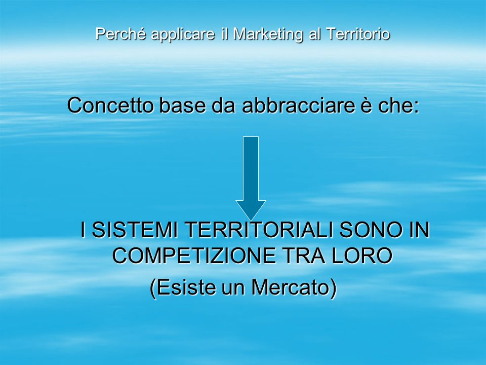 Perché applicare il Marketing al Territorio