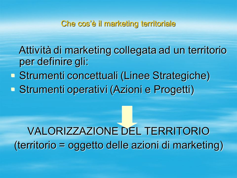 Che cos'è il marketing territoriale