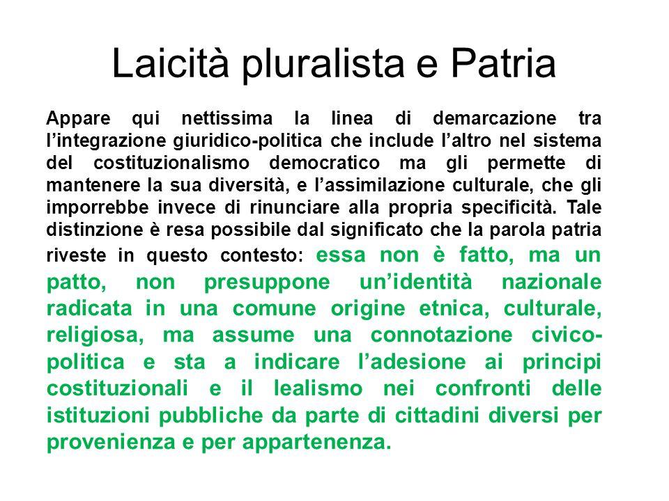 Laicità pluralista e Patria