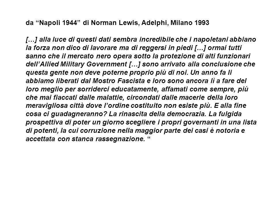 da Napoli 1944 di Norman Lewis, Adelphi, Milano 1993