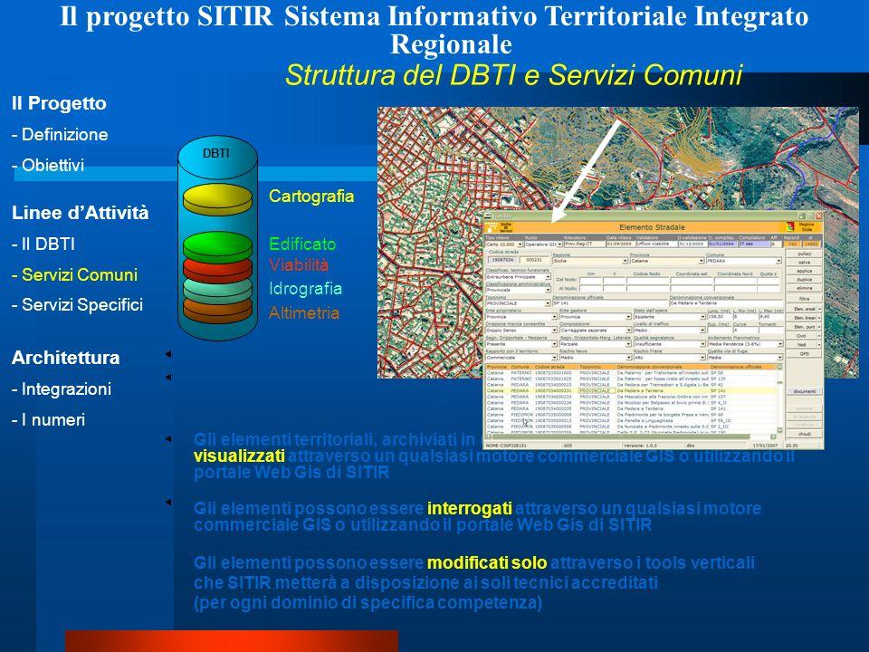 Il progetto SITIR Sistema Informativo Territoriale Integrato Regionale