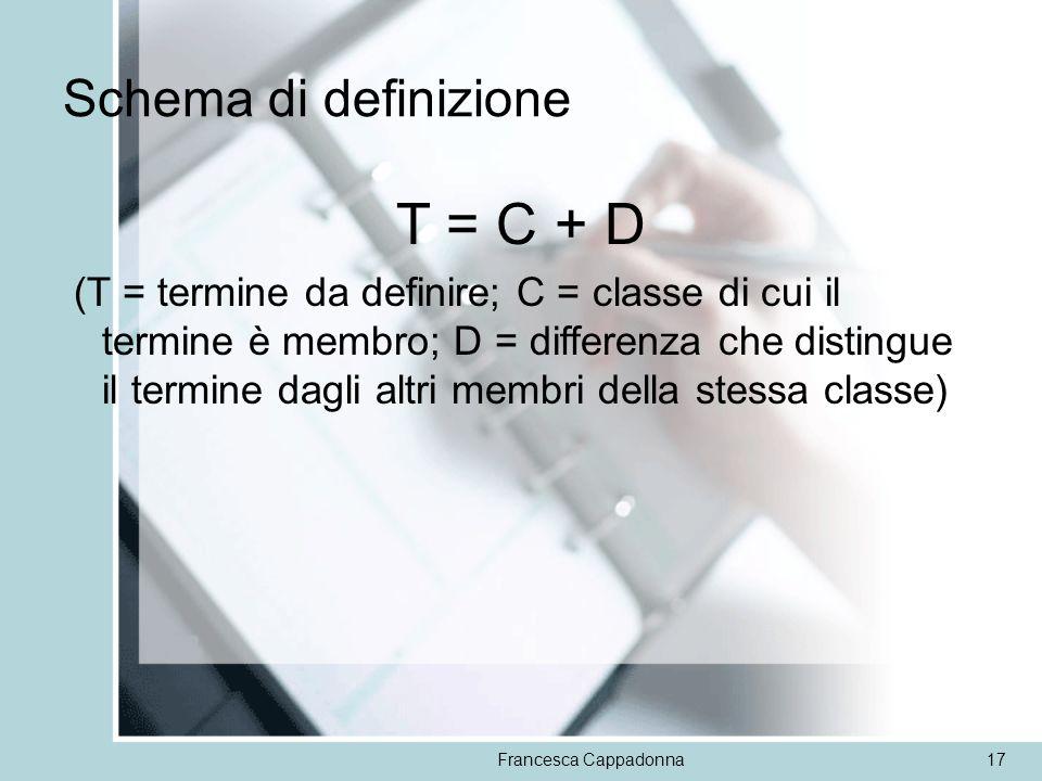 T = C + D Schema di definizione