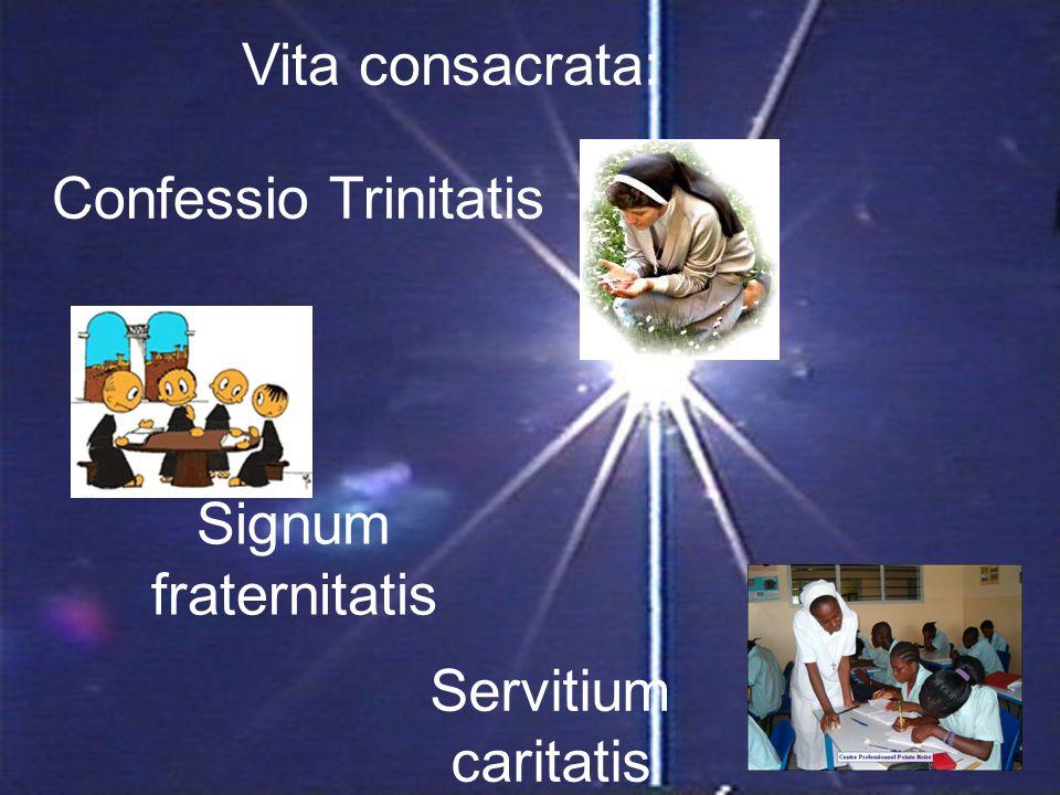 Vita consacrata: Confessio Trinitatis Signum fraternitatis Servitium caritatis